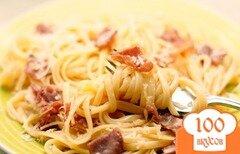 Фото рецепта: «Макароны с ветчиной и сыром»