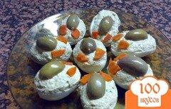 Фото рецепта: «Яйца, фашированные лососем»