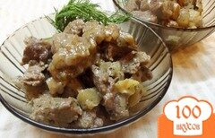 Фото рецепта: «Нежное мясо с фруктами»