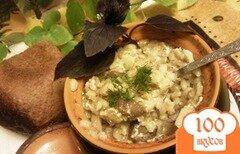 Фото рецепта: «Перловая каша в горшочках с сыроежками и печенью»
