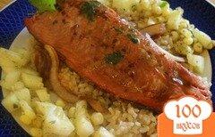 Фото рецепта: «Лосось с кукурузным салатом»