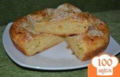 Фото рецепта: «Сливочно-сырный пирог с кунжутом»