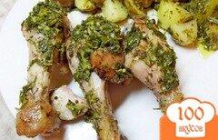 Фото рецепта: «Куриные ножки в медово-лимонном маринаде»