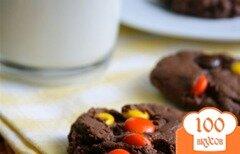 Фото рецепта: «Шоколадно-конфетное печенье»