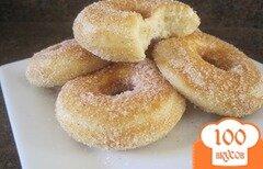 Фото рецепта: «Пончики с сахаром и корицей»