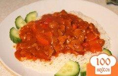 Фото рецепта: «Нежная говядина в винно-томатном соусе»