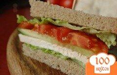 Фото рецепта: «Сэндвич с запеченой индейкой»