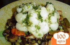 Фото рецепта: «Картофельные клецки с овощами»