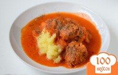 Фото рецепта: «Говяжьи фрикадельки в томатном соусе»