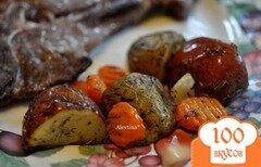 Фото рецепта: «Картофель с тимьяном и розмарином в пакете»