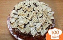 Фото рецепта: «Шоколадный вафельный тортик»