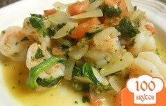 Фото рецепта: «Пряные креветки с овощами»