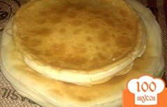Фото рецепта: «Тонкие блины на молоке»