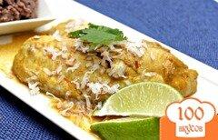 Фото рецепта: «Рыбное филе, запеченное с карри и кокосом»