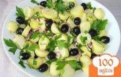 Фото рецепта: «Картофельный салат с маслинами»