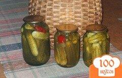 Фото рецепта: «Огурцы консервированные хрустящие»