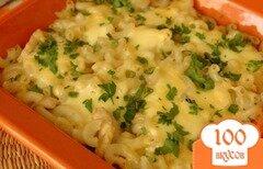Фото рецепта: «Гратен с куриным филе, вермишелью и сыром»