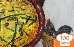 Фото рецепта: «Киш с картофелем и спаржей»