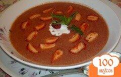 Фото рецепта: «Холодный клубничный суп с имбирем»
