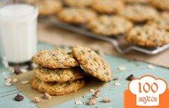 Фото рецепта: «Овсяное печенье с шоколадом и карамелью»
