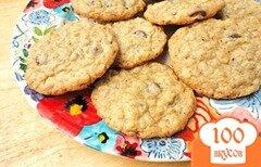 Фото рецепта: «Овсяное печенье с молочным шоколадом и кардамоном»