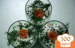 Фото рецепта: «Веррины с авокадо, огурцом, зелёным луком и копчёным лососем»