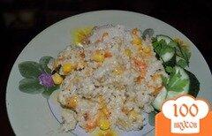 Фото рецепта: «Сочная, мягкая, ячневая каша с кукурузой»