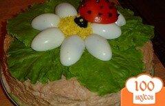 """Фото рецепта: «Блинный тортик """"ЛЕТО""""»"""