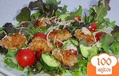 Фото рецепта: «Салат с мини-котлетами»