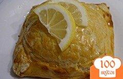 Фото рецепта: «Горбуша в конвертике из песочно-слоеного теста»