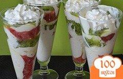 Фото рецепта: «Десерт с клубникой и киви»