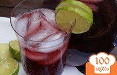 Фото рецепта: «Чернично-лаймовый чай»