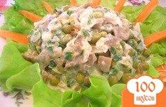 Фото рецепта: «Салат по-деревенски с грибами»