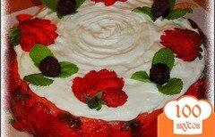 Фото рецепта: «Торт «Клубничка»»