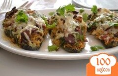 Фото рецепта: «Перец поблано с рисом и фасолью»