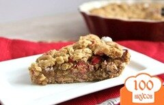 Фото рецепта: «Пирог из арахисового масла с конфетами»