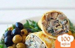 Фото рецепта: «Омлет с грибами и сыром»