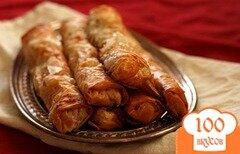 Фото рецепта: «Блинчики с тыквой, беконом и козьим сыром»