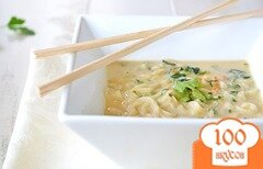 Фото рецепта: «Кокосовый суп с лапшой»