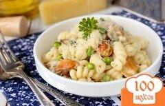 Фото рецепта: «Паста с мидиями, горошком и сыром филадельфия»