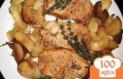 Фото рецепта: «Свиные отбивные с яблоками»