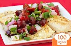 Фото рецепта: «Тилапия с вишневой сальсой»