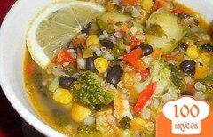 Фото рецепта: «Суп с гречкой и черной фасолью»