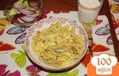 Фото рецепта: «Паста с курицей, карри и сыром»