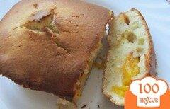 Фото рецепта: «Пирог с персиковой начинкой на скорую руку»