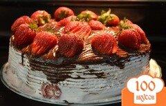Фото рецепта: «Клубничный маршмэллоу торт»