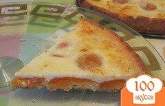 Фото рецепта: «Творожный пирог с абрикосами»