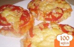 """Фото рецепта: «Пицца """"Мини"""" с перепелиным яйцом»"""