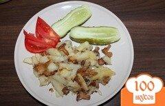 Фото рецепта: «Жареная картошка с лисичками»