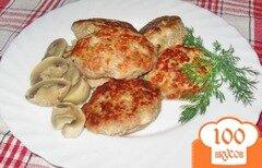 Фото рецепта: «Котлеты с брокколи, сыром и кусочками филе»